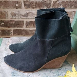 Matisse Blue Green Soho Slouch Suede Ankle Boots